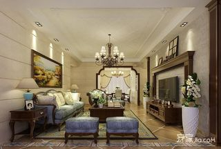146平美式风格四房装修效果图
