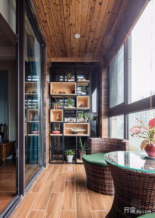 三居室美式家阳台
