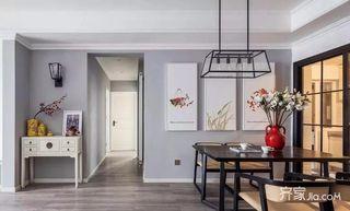 三居室美式空间客厅过道