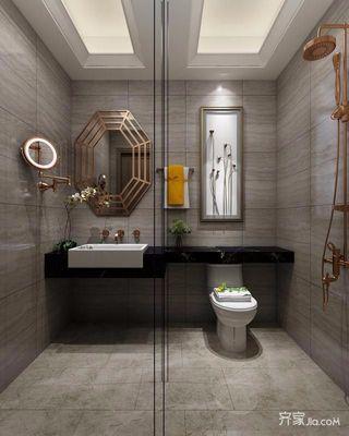 95㎡北欧风装修卫生间设计图