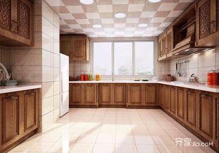 160平中式装修厨房构造图
