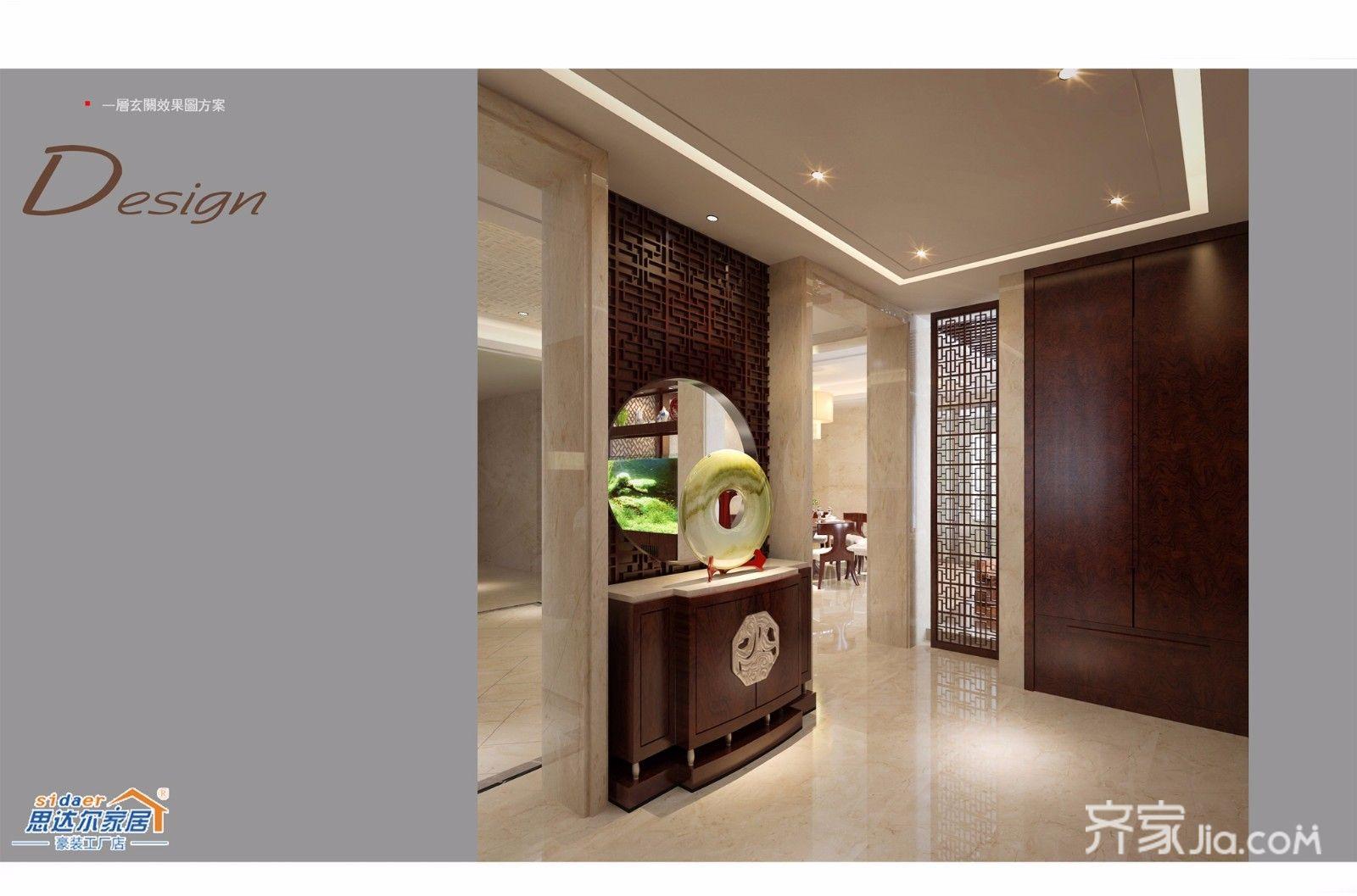 中式别墅设计玄关