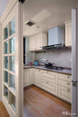 简约140平装修设计厨房实景图