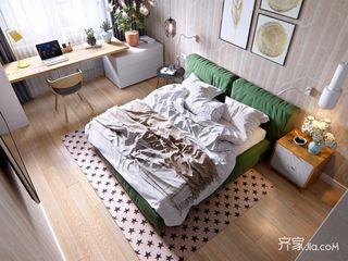 一居室简约小家卧室俯视图