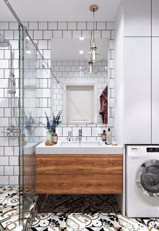 一居室简约小家卫生间设计图