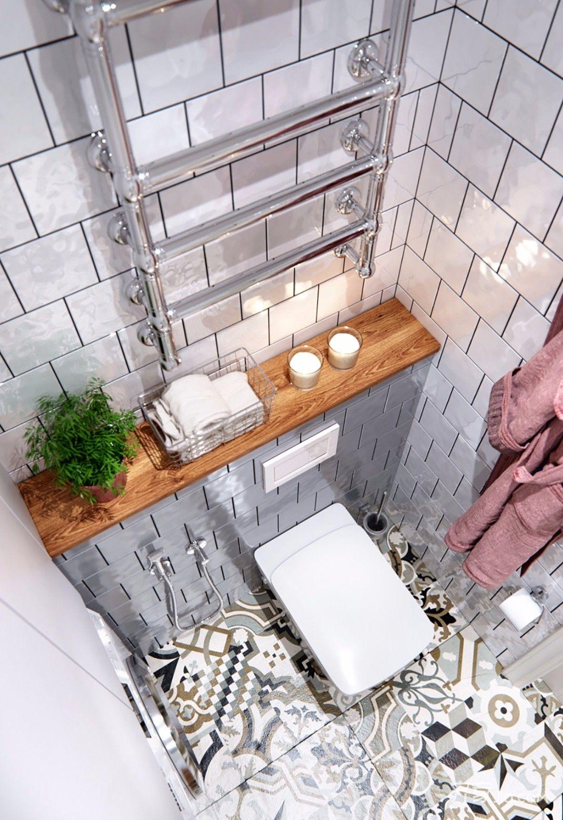 一居室简约小家卫生间马桶图片