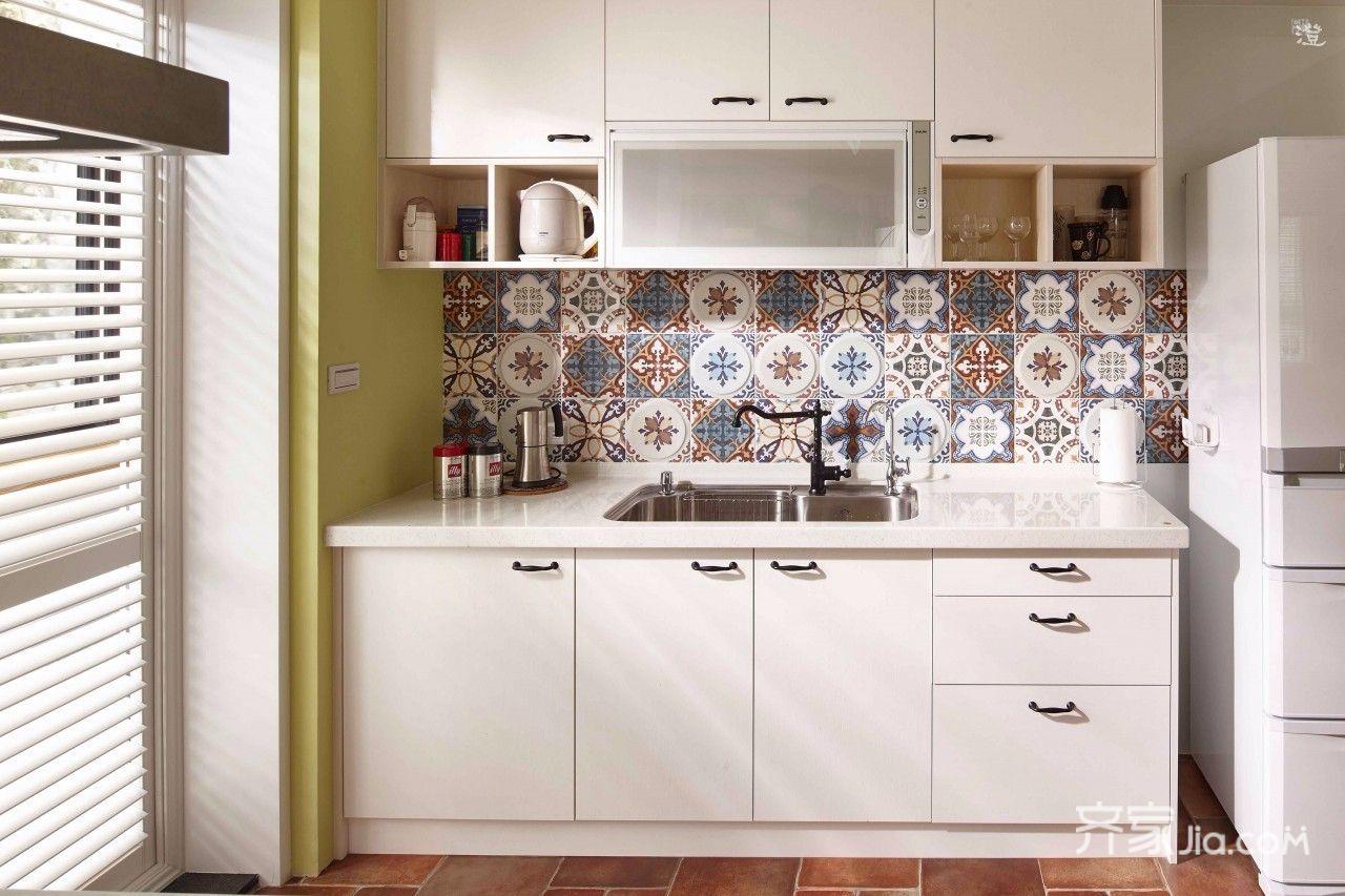 美式乡村风格家厨房设计图