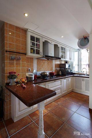 三居室美式风格装修厨房构造图