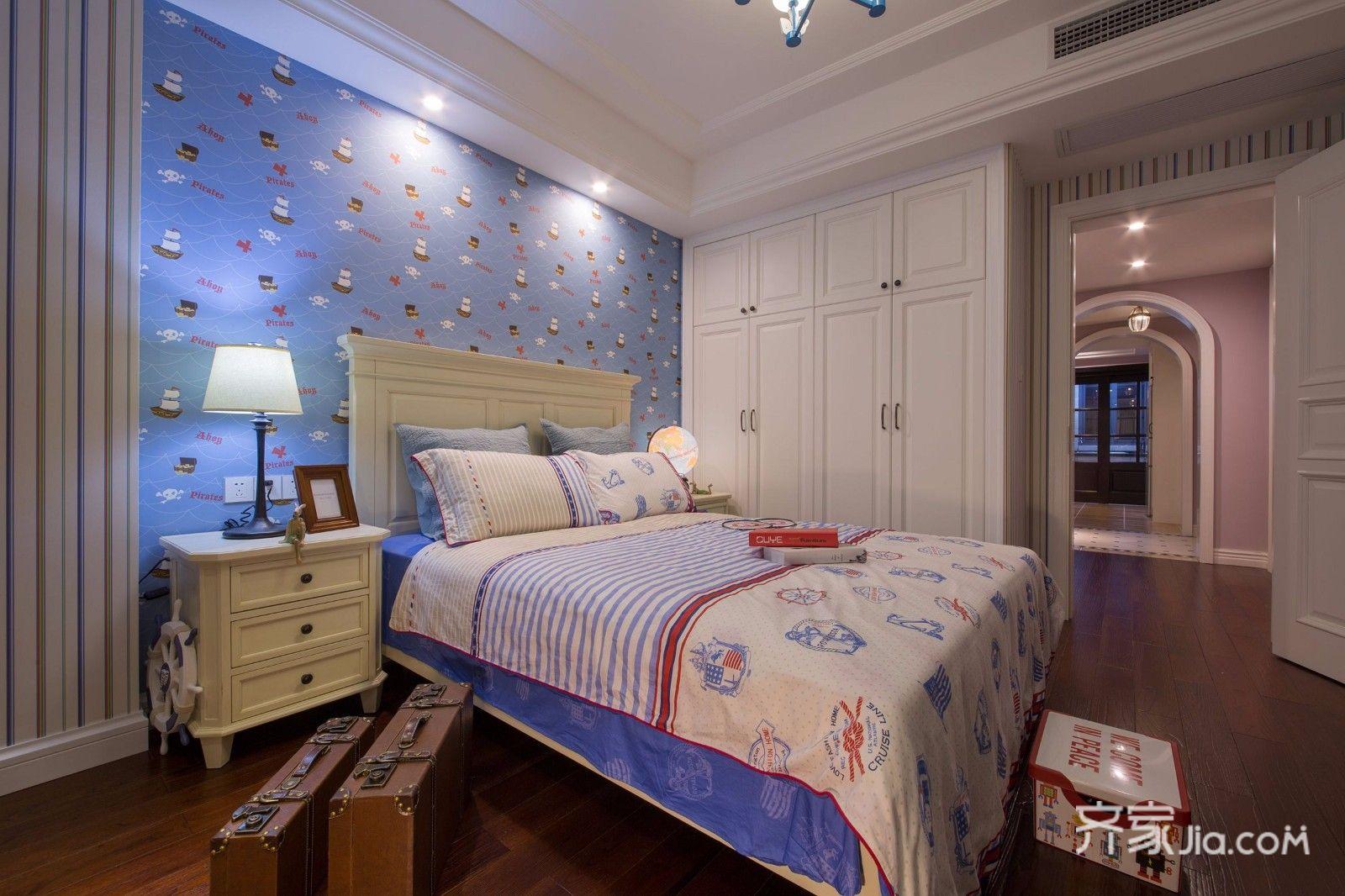 二居室温馨美式装修卧室效果图