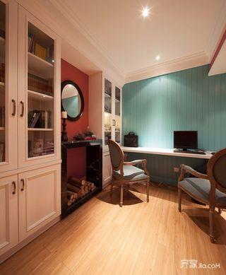 二居室混搭风格家书房布置图
