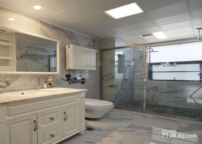 150平简约风格装修卫生间装潢图