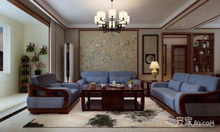 130㎡中式简约风沙发背景墙