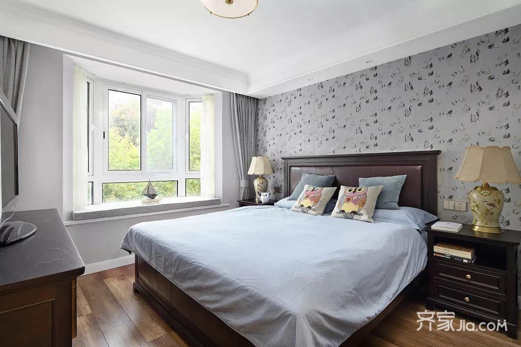 145平美式风格装修卧室效果图