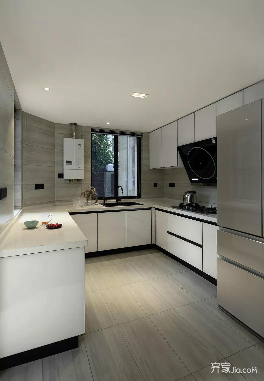 160㎡现代简约风设计厨房效果图