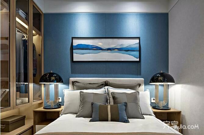 二居室简约风之家卧室效果图
