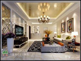 二居室欧式风格家客厅效果图