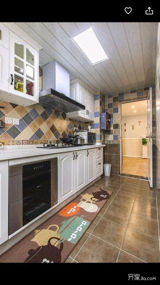 100㎡混搭风装修厨房构造图