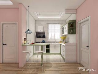 少女心满溢的粉色简约家厨房效果图