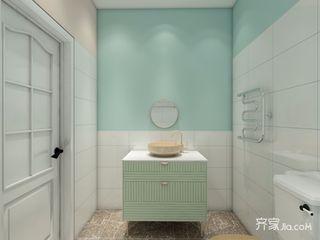 少女心满溢的粉色简约家卫生间装潢图