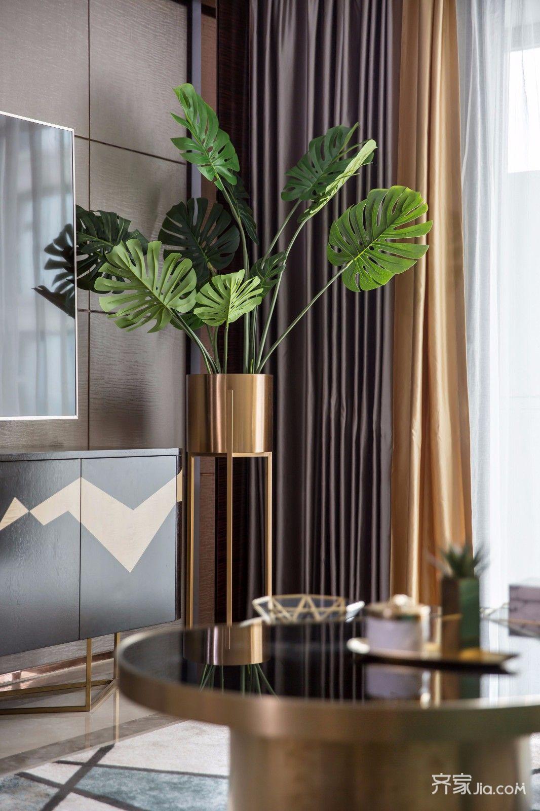 三居室欧式风格家绿植