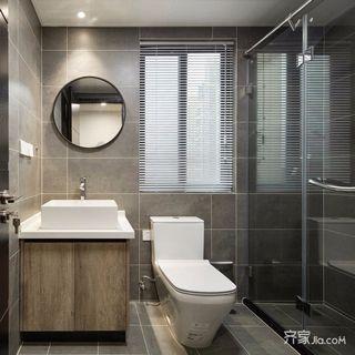 三居室欧式风格家卫生间装潢图