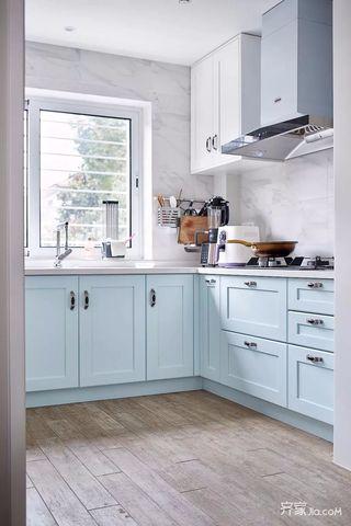 二居室北欧风格家厨房构造图