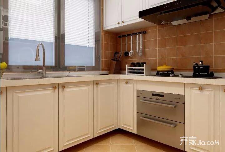 二居室欧式风格装修厨房装潢图