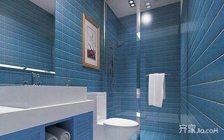 80㎡地中海风格家卫生间装潢图