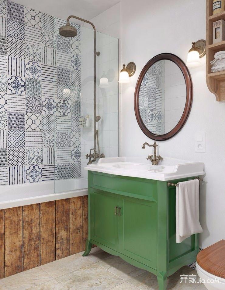 二居室混搭之家卫生间装潢图