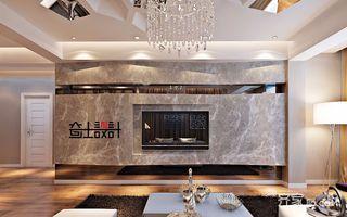 120平现代奢华风装修电视背景墙