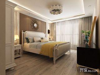 150平混搭风装修卧室窗帘图片