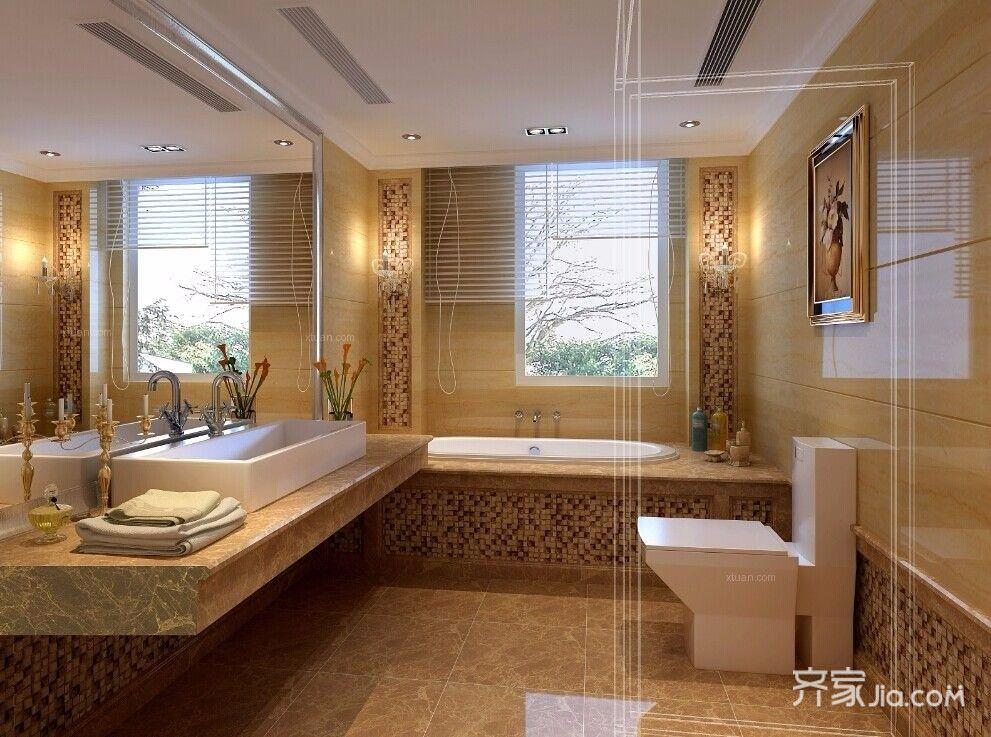 奢华欧式风格装修卫生间装潢图