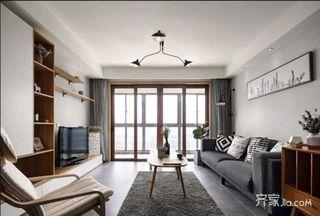140平简约风格家客厅窗户图片