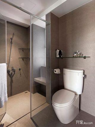 67平简约风格装修卫浴间装潢图