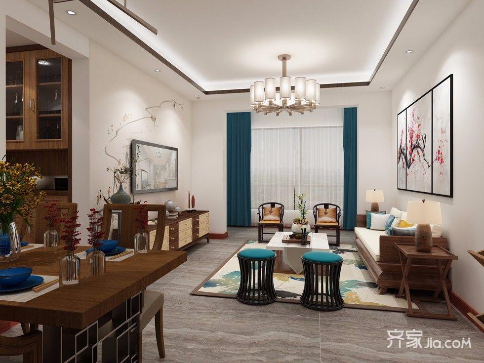 100平中式风格家餐桌图片