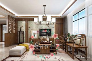 150㎡中式风格装修客厅布置图
