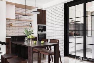 三居室简约风格装修餐桌图片