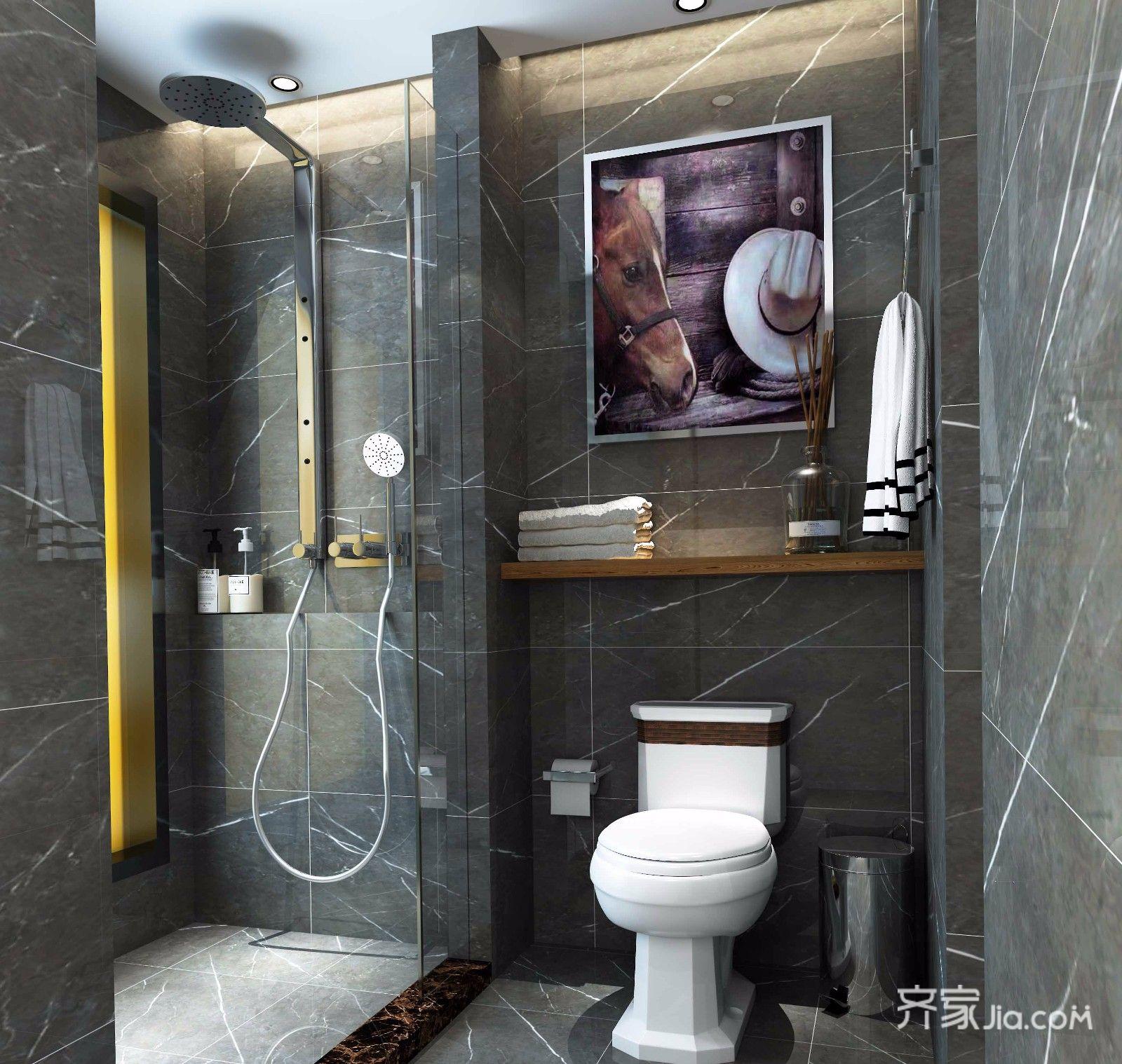 简约三居室装修卫生间装潢图