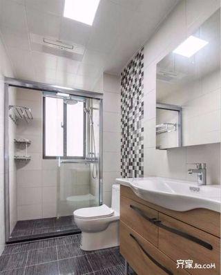 日式木质简约风二居装修卫生间搭配图