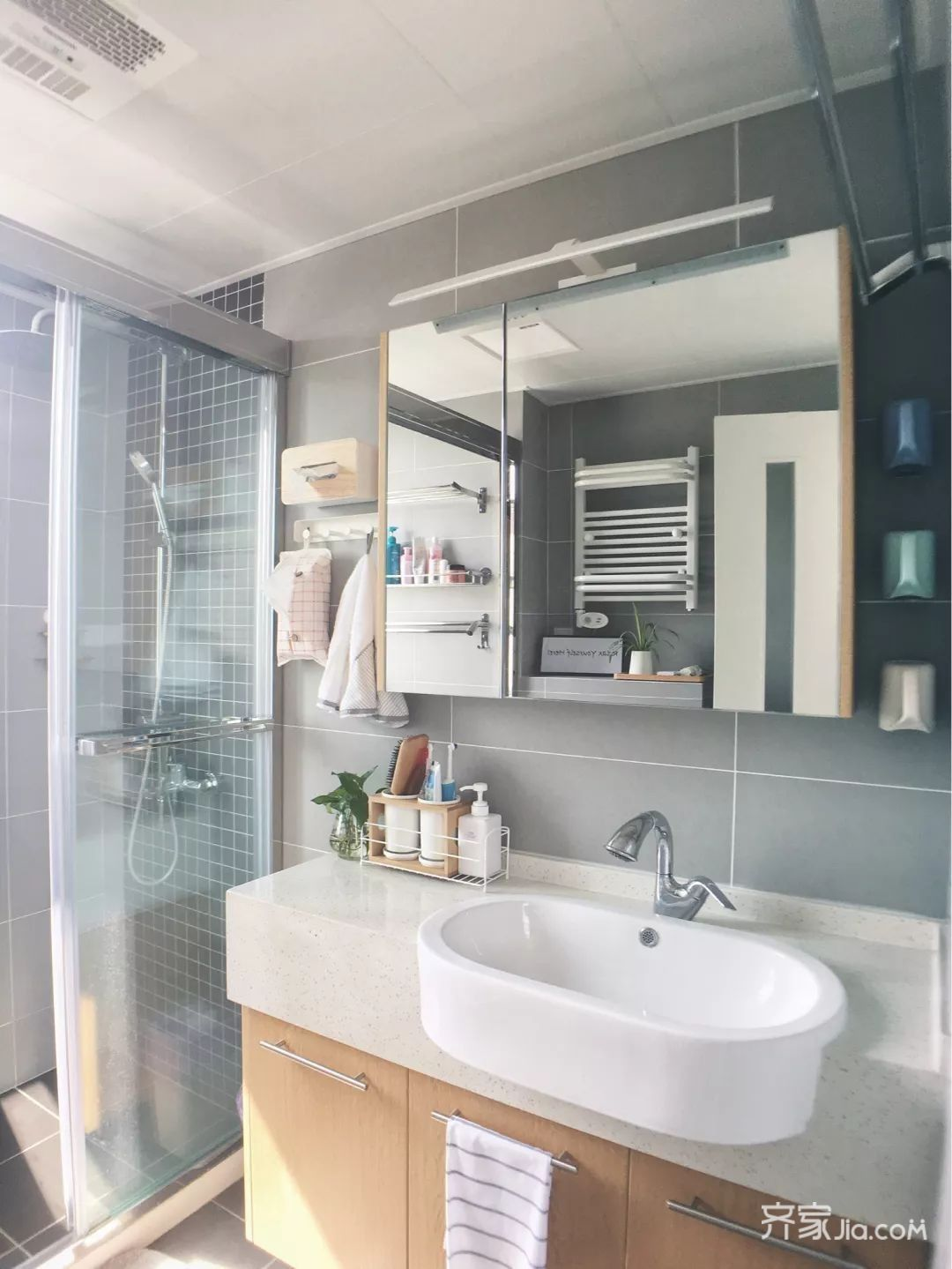 70m²宜家风格装修卫生间设计图