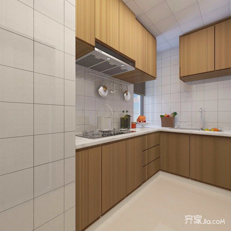 都市白领的简约风之家厨房装潢图