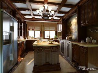 360平中式别墅装修厨房效果图