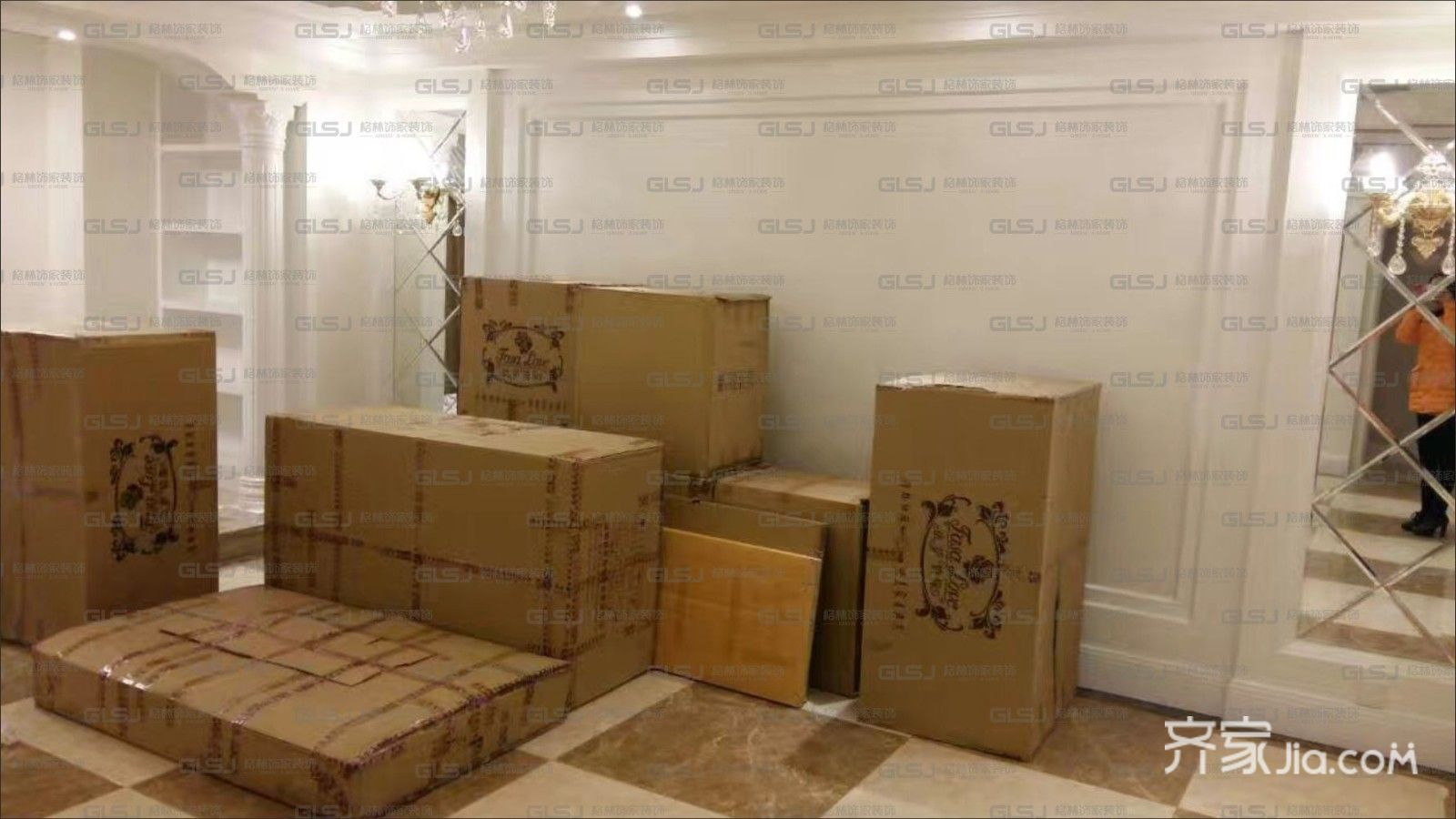 三居室欧式精装修客厅背景墙图片