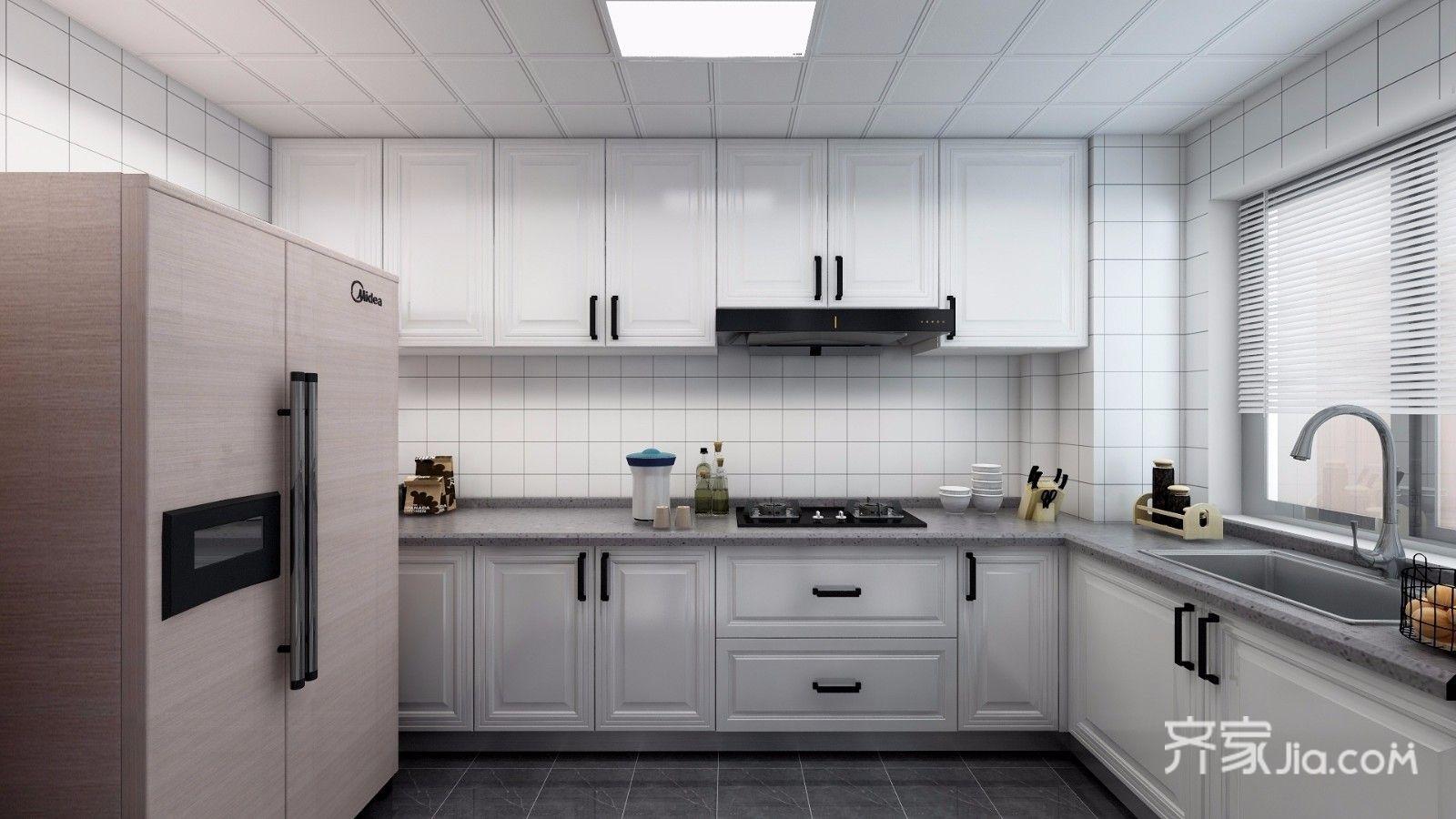 90平简约装修厨房装潢图