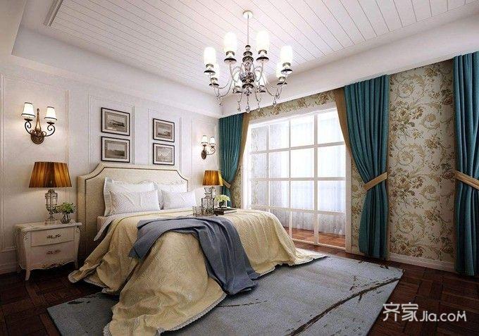 78平混搭风格装修卧室效果图