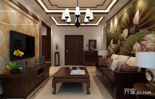 80平米二居室裝修客廳效果圖
