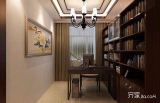 80平米二居室装修书房布置图