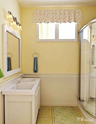 78平混搭风格装修卫生间装潢图