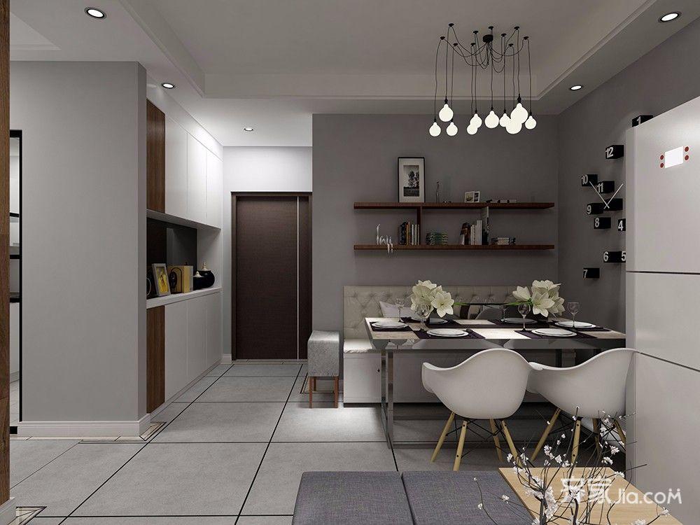 95平北欧风格装修厨房设计图