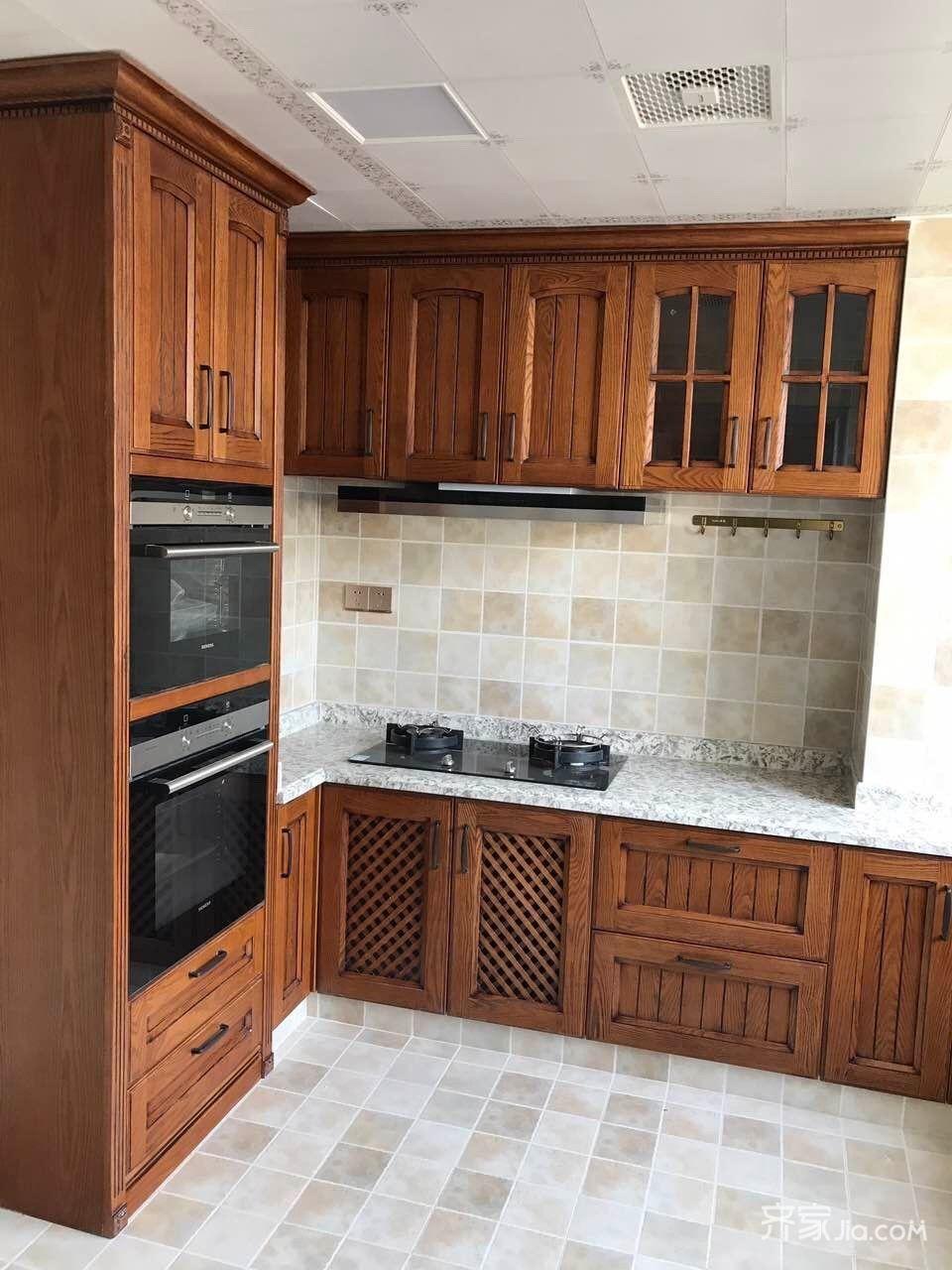 三居室美式乡村家厨房装潢图